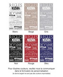 Exemple de coloris pour Tableau Règles de la maison personnalisé - Vintage